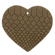 DQ European leather pendants heart Etherea Brown