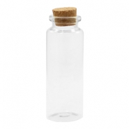 Wish bottle with cork 8x3cm Transparent