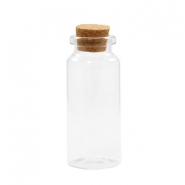 Wish bottle with cork 7x3cm Transparent