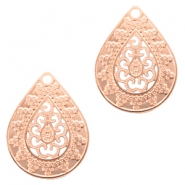 Bohemian charms drop Rose Gold