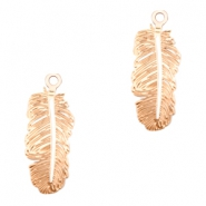 Bohemian charms feather Rose Gold