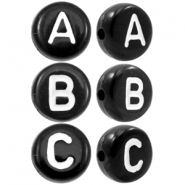 Acrylic letter beads alphabet Black