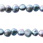 Freshwater pearls nugget 3-4mm Blue Purple