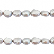Freshwater pearls nugget 6-7mm Grey