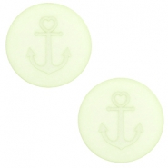20 mm flat Polaris Elements cabochon Anchor Relaxing Green