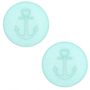 12 mm flat Polaris Elements cabochon Anchor Anise Green