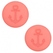 12 mm flat Polaris Elements cabochon Anchor Salmon Rose