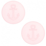 12 mm flat Polaris Elements cabochon Anchor Whisper Pink