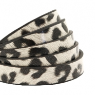 10 mm flat faux leather leopard print Off White