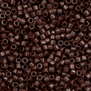 Miyuki beads delica's 11/0 Opaque Chocolate Brown
