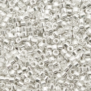 Miyuki beads delica's 11/0 Bright Sterling Plated Silver