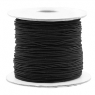 Coloured elastic cord 0.8mm Black