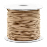 Coloured elastic cord 0.8mm Taupe Brown