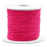 Coloured elastic cord 0.8mm Fuchsia Pink