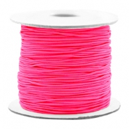 Coloured elastic cord 0.8mm Fluor Pink