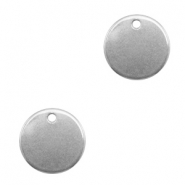 Charms stainless steel 12mm Silver