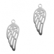 Charms stainless steel angel wing Silver