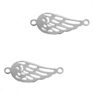 Charms stainless steel connector angel wing Silver