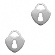 Charms stainless steel heart Silver