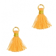 Tassels 1cm Gold-Fire Orange