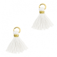 Tassels 1cm Gold-Bright White