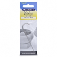 Beadalon big eye curved needle 9cm Silver