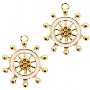 Basic Quality metal charms wheel Gold-Light Pink