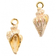 Basic Quality metal charms shell Gold-White
