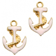 Basic Quality metal charms anchor Gold-Light Pink
