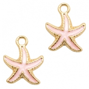 Basic Quality metal charms seastar Gold-Light Pink