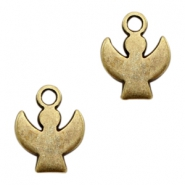 DQ European metal charms angel Antique Bronze (nickel free)