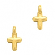 DQ European metal charms cross Gold (nickel free)
