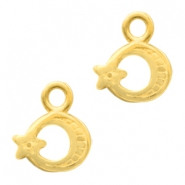 DQ European metal charms moon&star Gold (nickel free)