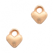 DQ European metal charms heart Rose Gold (nickel free)