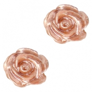 Rose beads 6mm White-Ginger Rose Pearl Shine