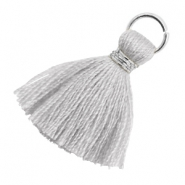 Tassels 1.8cm Silver-Light Mirage Grey