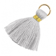 Tassels 1.8cm Gold-Light Mirage Grey