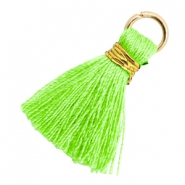 Tassels 1.8cm Gold-Bright Neon Green