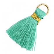 Tassels 1.8cm Gold-Mint Leaf Green