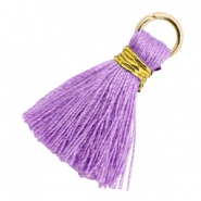 Tassels 1.8cm Gold-Deep Lavender Purple