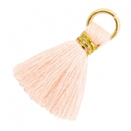 Tassels 1.8cm Gold-Almond Cream Peach