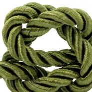 Trendy cord weave 6mm Olive green