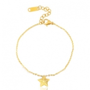 Stainless steel bracelets star Gold