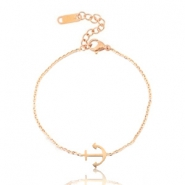 Stainless steel bracelets anchor Rose Gold