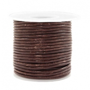 Benefit package DQ leather round 2 mm Vintage Driftwood Brown Metallic