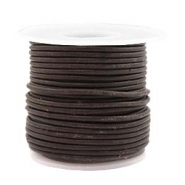 Benefit package DQ leather round 2 mm Dark Chocolate Brown