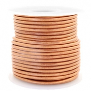 Benefit package DQ leather round 3 mm Copper Gold Metallic