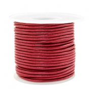 Benefit package DQ leather round 2 mm Moroccan Red Metallic