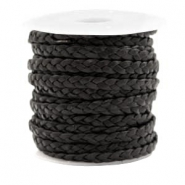 Benefit package Flat braided 5 mm DQ leather Vintage Black