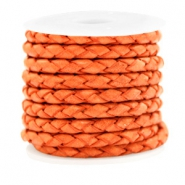 DQ round braided leather 4 strings 4mm Antique Orange